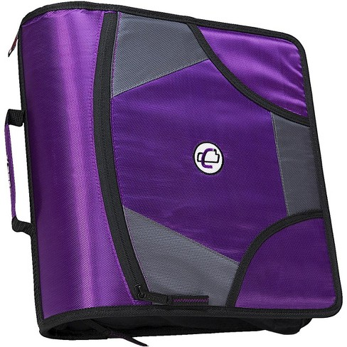 Case-it Zipper Binder with 5 Tab Files, D-Ring, 4 Inches, Purple - image 1 of 3