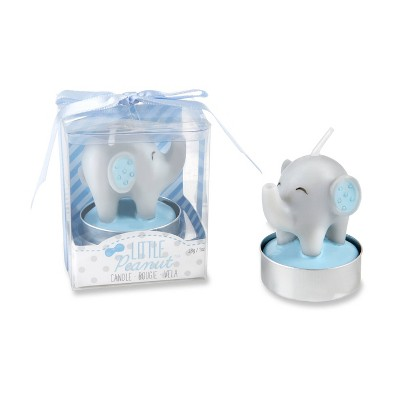 12ct Little Peanut Elephant Shaped Candle Blue in Gift Package