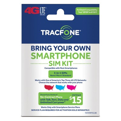 Tracfone Compatible Smartphones >> Tracfone Bring Your Own Phone Sim Activation Kit Target