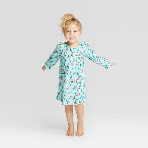 Toddler Holiday Sledding Dogs Notch Collar Mommy and Me Nightgown -  Wondershop™ Mint 394061da8