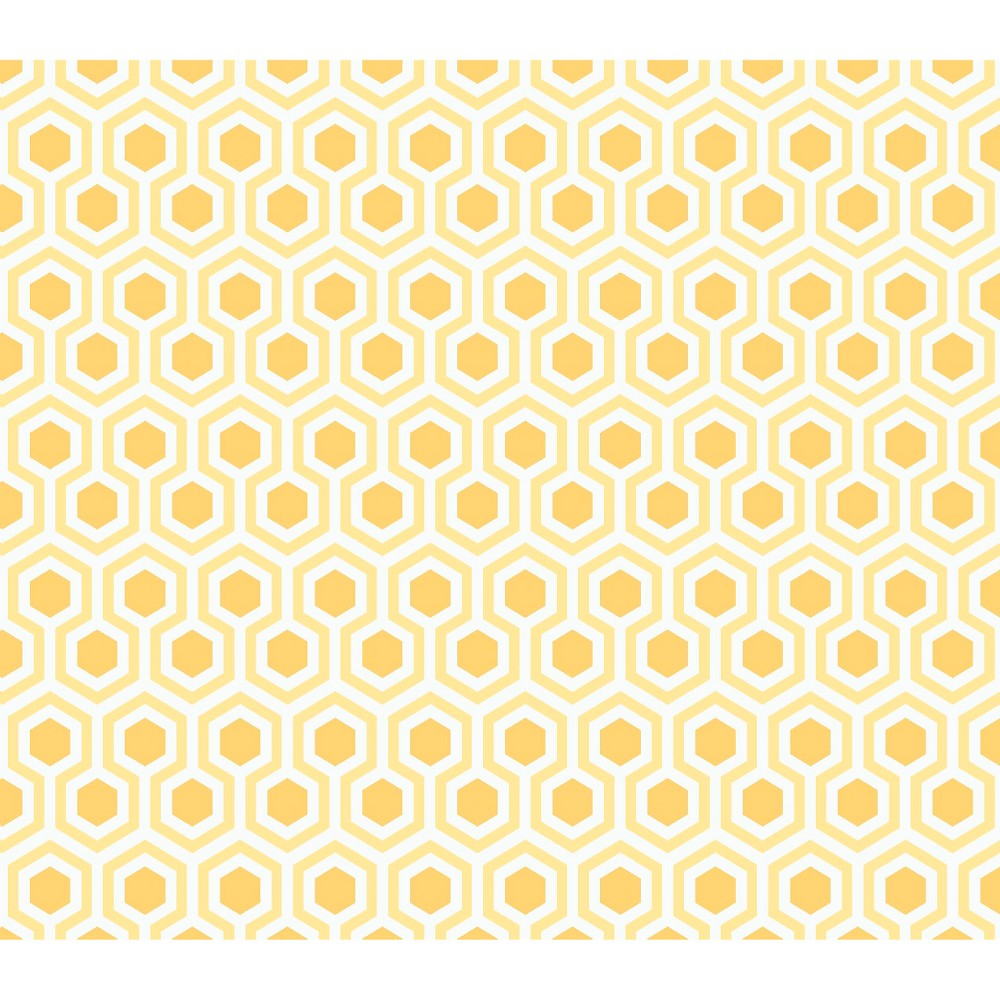 Moderation Cw2 Honeycomb, Yellow, 100% Cotton, 43/44 Width, Fabric by the Yard