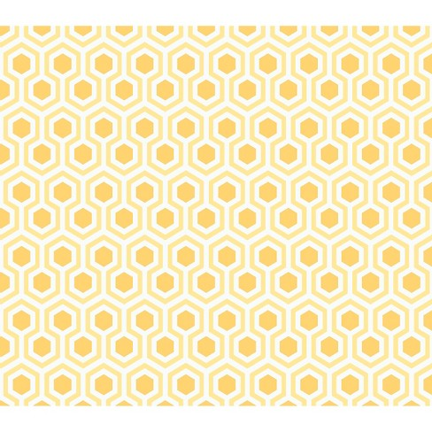 "Moderation Cw2 Honeycomb, Yellow, 100% Cotton, 43/44"" Width, Fabric by the Yard - image 1 of 1"