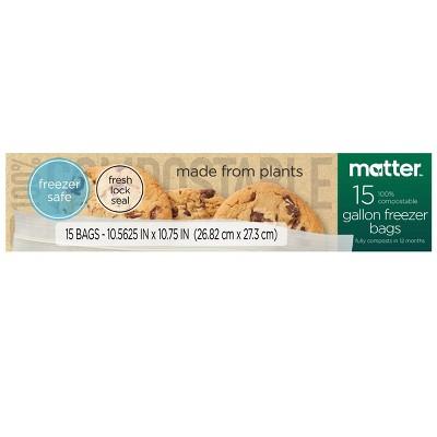 Matter 100% Compostable Gallon Freezer Bags - 15ct