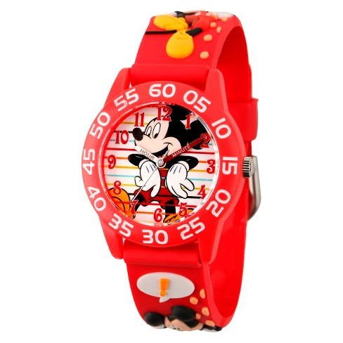 Kid's Disney® Mickey Watch - Red - image 1 of 1