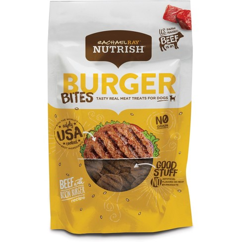 Rachael Ray Nutrish Burger Bites Dog Treats Beef Burger with Bison Recipe 12oz - image 1 of 2