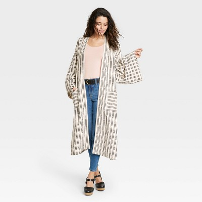 Women's Yarn Dye Kimono - Universal Thread™ Oatmeal Heather