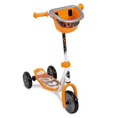 Huffy 78848 Star Wars BB8 Preschool Toddler Kick Scooter with Storage Basket, Orange