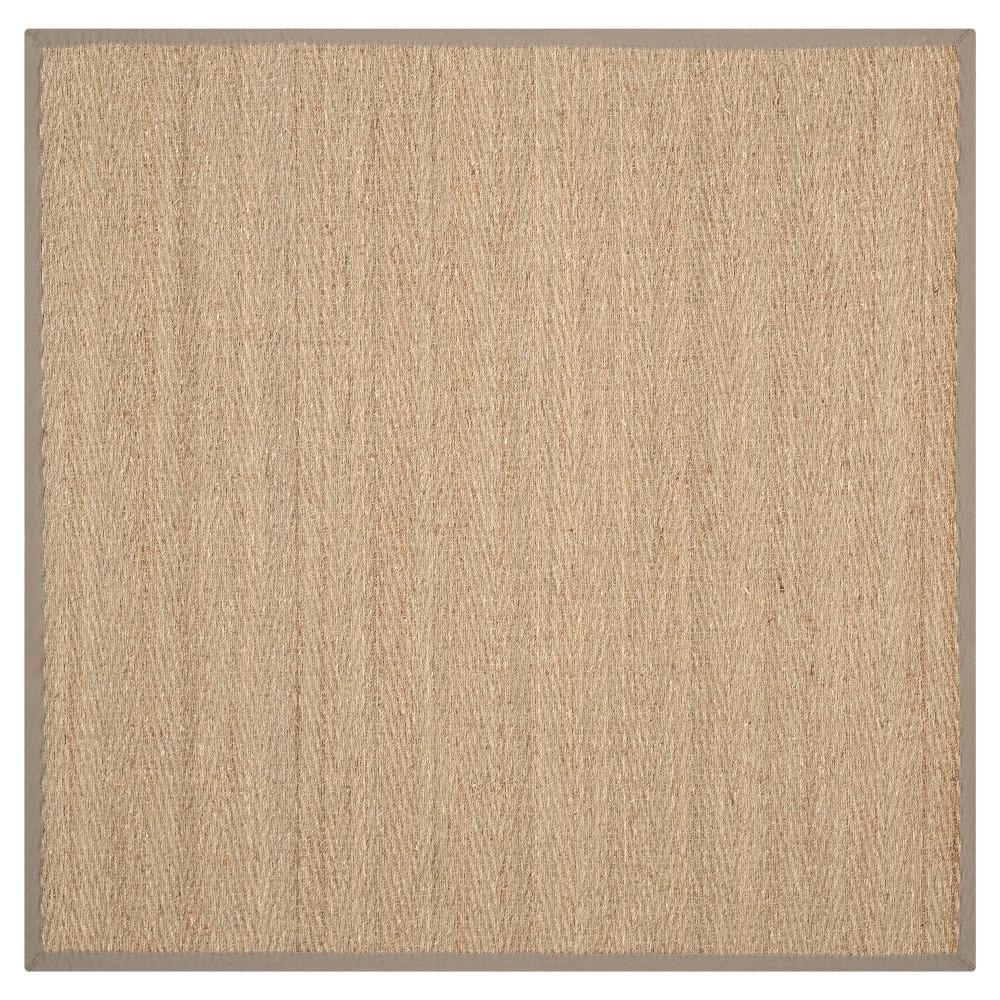 Natural Fiber Rug - Natural/Grey - (6'x6' Square) - Safavieh, Natural/Gray