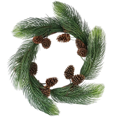 "Allstate 30"" Unlit Long Pine Needle with Pine Cones Artificial Christmas Wreath - image 1 of 4"