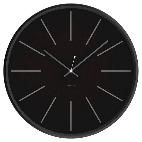 "12"" Round Wall Clock Black - JONSSON Timeware® - image 1 of 2"