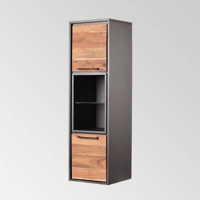 Bayless Modern Wall Shelf Dark Gray - Christopher Knight Home