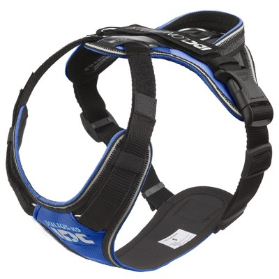 Julius K-9 19LWH-GB-S IDC Longwalk Reflective No Pull Dog Walking Vest Harness for Small Sized Dogs from 19.8 to 33 Pounds, Size S, Blue/Gray