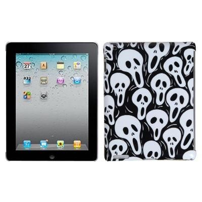 MYBAT For Apple iPad 2/3/4 Black White Screaming Ghosts Hard Plastic Case Cover
