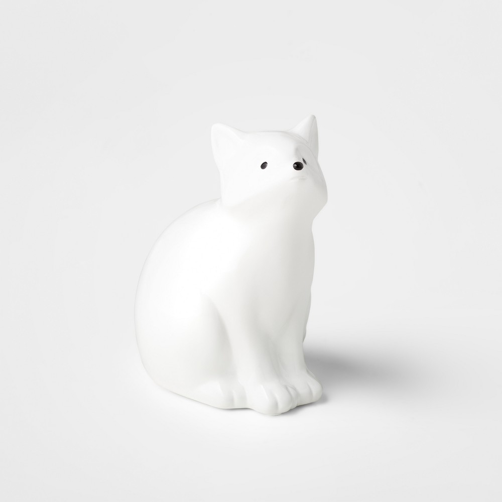 Image of Decorative Coin Bank Fox - Cloud Island White