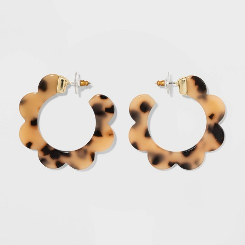 SUGARFIX by BaubleBar Whimsical Resin Hoop Earrings - image 1 of 4