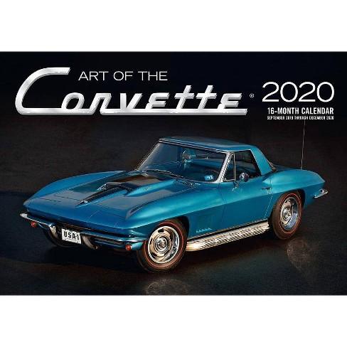 Corvette Calendar 2020 Art Of The Corvette 2020   (Calendar) : Target