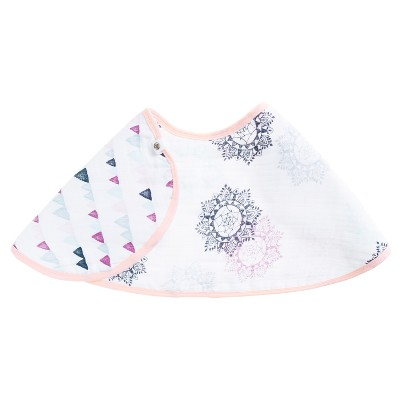 Aden® by Aden + Anais® Printed Cloth Bib - Pink/White