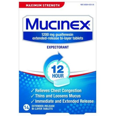 Cold & Flu: Mucinex Maximum Strength 12-Hour Tablets