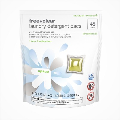 Free & Clear Single Dose Laundry Detergent Pacs 45ct - Up&Up™