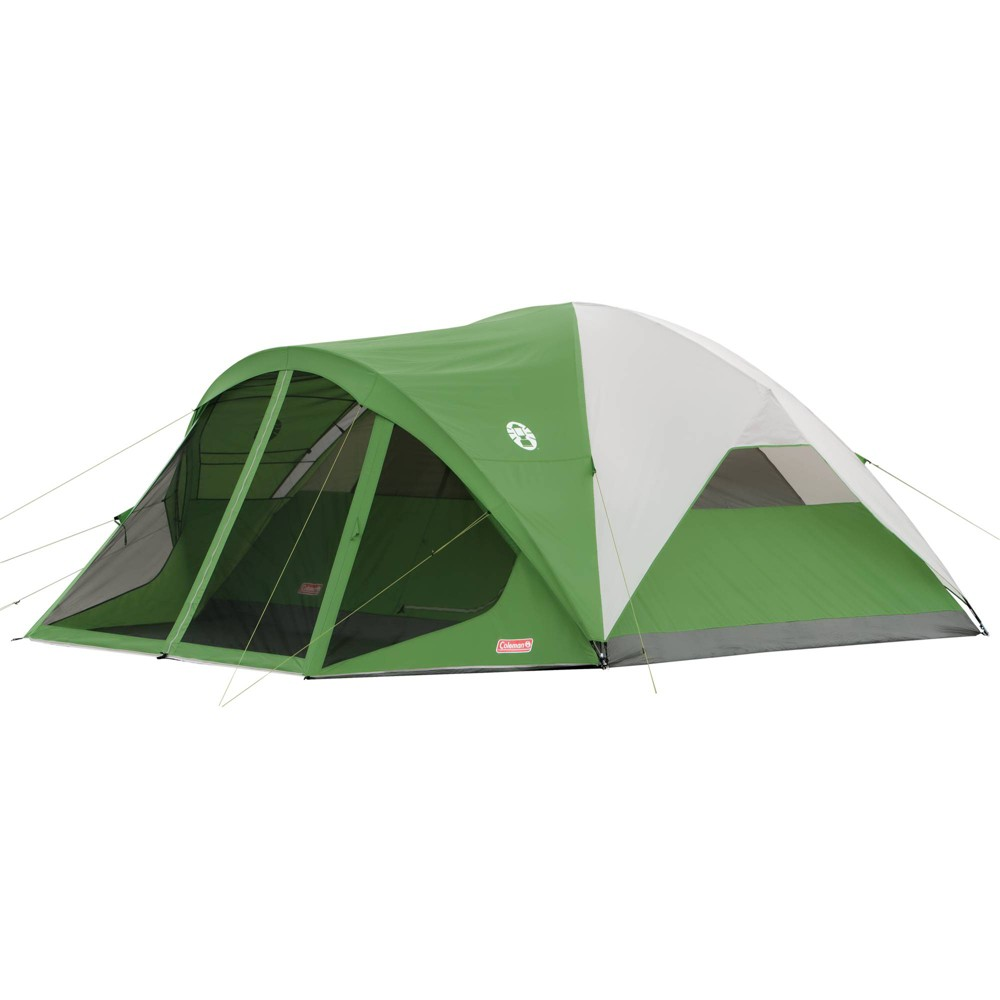 Image of Coleman Evanston Dome 8-Person Screened Tent - Green