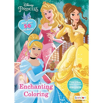 - 224 Page Coloring Book Dsney Princess - Target Exclusive Edition  (Paperback) : Target