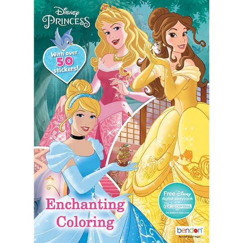 224 Page Coloring Book Dsney Princess Target