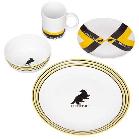 Seven20 Harry Potter 16 Piece Porcelain Dinnerware Set | Plates, Bowls Mugs | House Hufflepuff - image 1 of 2