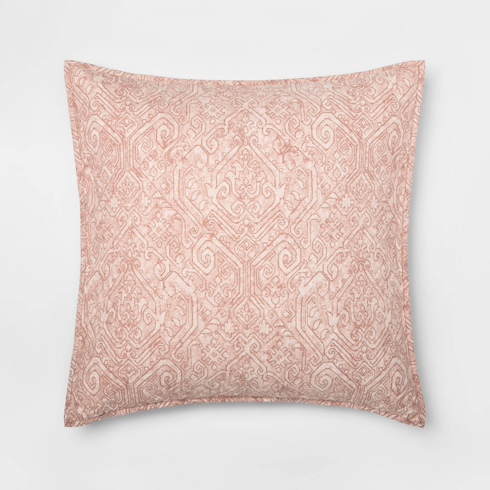 Euro Family Friendly Medallion Pillow Sham Pink - Threshold was $30.0 now $15.0 (50.0% off)