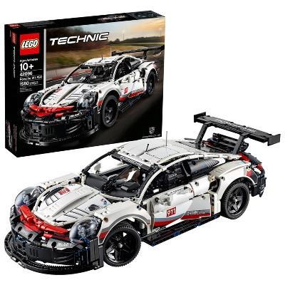 LEGO Technic Porsche 911 RSR Collectible STEM Toy Race Car Building Kit 42096
