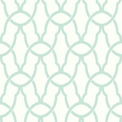 RoomMates Trellis Peel & Stick Wallpaper Blue - image 1 of 3