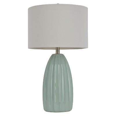 """27"""" Ceramic Crackle Table Lamp Blue - J.Hunt"""