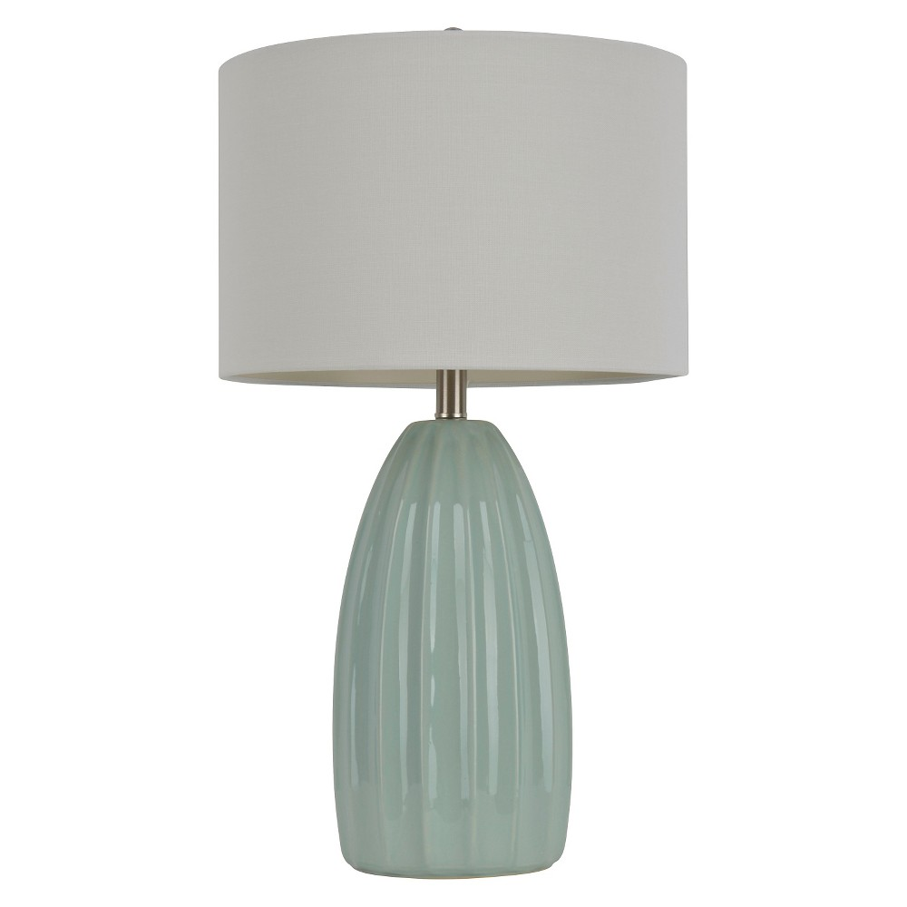 "Image of ""Ceramic Crackle Table Lamp - 27""""H - Blue/White"""