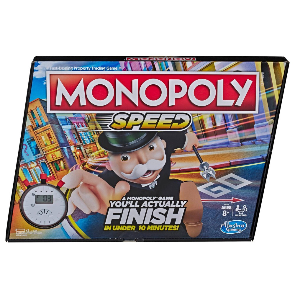 Monopoly Speed Board Game, Play in Under 10 Minutes Now $9.99 (Was $19.99)