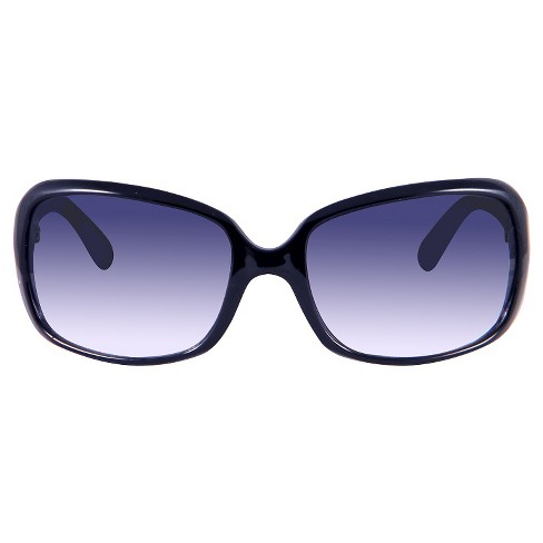 Women's Rectangle Sunglasses - A New Day™ Black - image 1 of 2