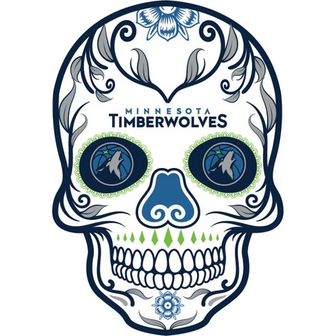 NBA Minnesota Timberwolves Small Outdoor Skull Decal - image 1 of 1