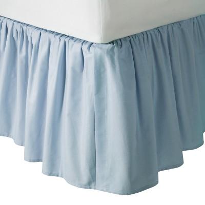 TL Care 100% Cotton Percale Crib Dust Ruffle - Blue