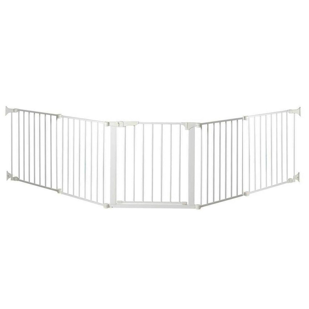 "Image of ""KidCo Auto Close Configure Baby Gate with Two 24"""" Extensions (Total width up to 128"""") - White"""