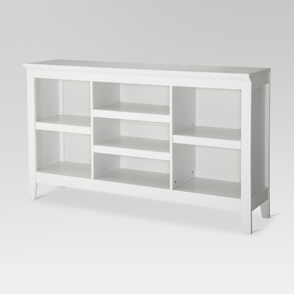 32 Carson Horizontal Bookcase with Adjustable Shelves White - Threshold Coupons