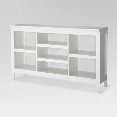 "32"" Carson Horizontal Bookcase with Adjustable Shelves White - Threshold™ - image 1 of 4"
