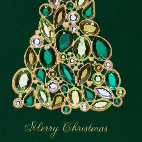 papyrus jeweled christmas tree greeting card - Jeweled Christmas Trees