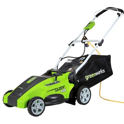 GreenWorks Electric 10-Amp 16  Lawn Mower Exotic Green
