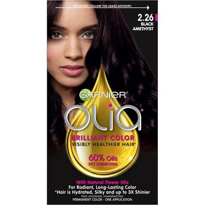 Garnier Olia Oil Powered Permanent Hair Color Bold Collection 2.26 - Black Amethyst - 1 kit