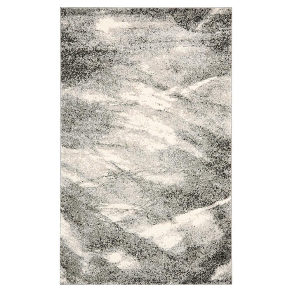 Kenzie Area Rug - Gray / Ivory (10' X 14') - Safavieh, Gray/Ivory