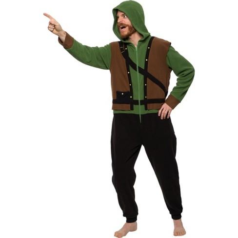FUNZIEZ! - Robin Hood Slim Fit Adult Unisex Novelty Union Suit - image 1 of 4