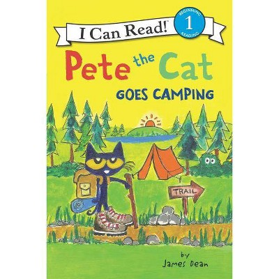 Pete the Cat Goes Camping -  (I Can Read. Level 1) by James Dean (Paperback)
