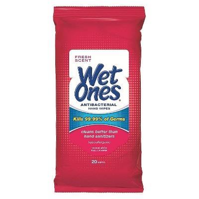 Wet Ones® Antibacterial Hand Wipes Fresh Scent - 20ct