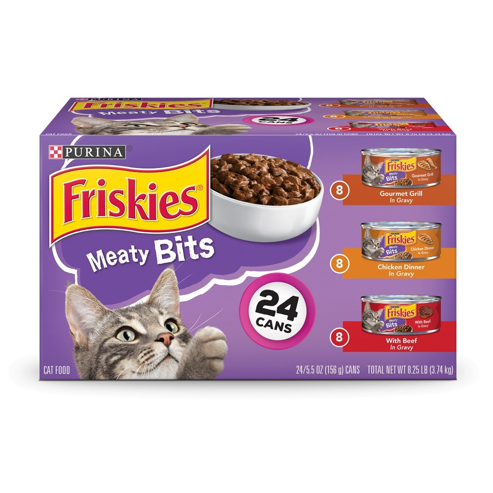Purina Friskies Meaty Bits (Variety Pack) - Wet Cat Food - 5.5oz / 24pk