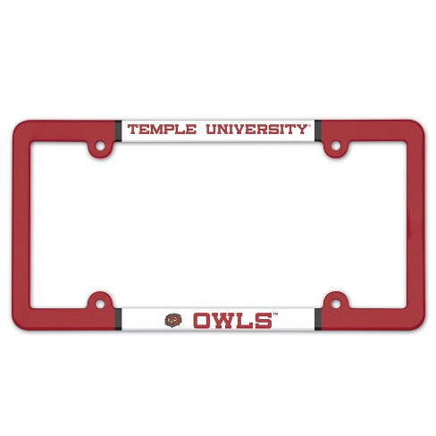 NCAA Temple Owls License Plate Frame : Target