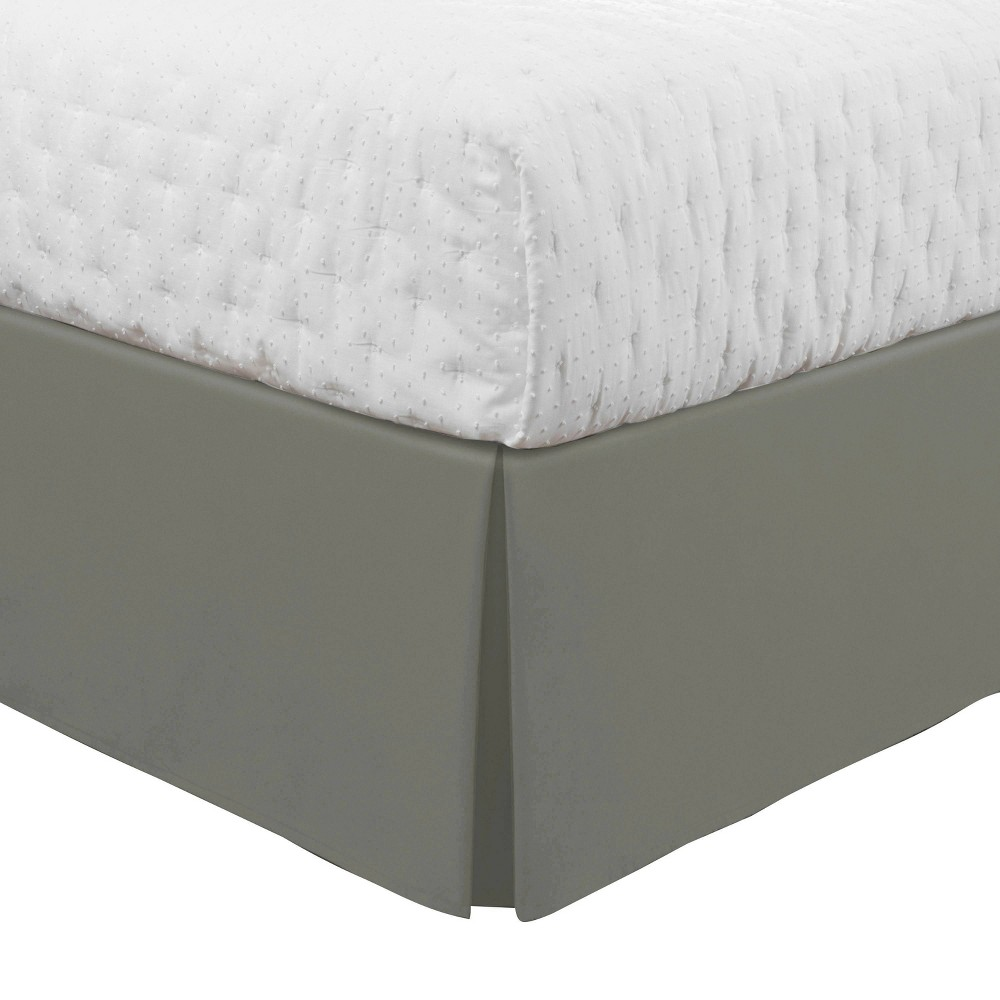 Image of Luxury Hotel Classic Tailored King Bed Skirt Silver Gray