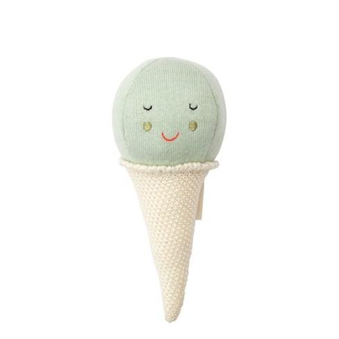 Meri Meri - Mint Ice Cream Baby Rattle - Rattles and Teethers - 1ct - image 1 of 2